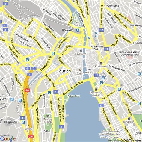 map  zurich switzerland hotels accommodation
