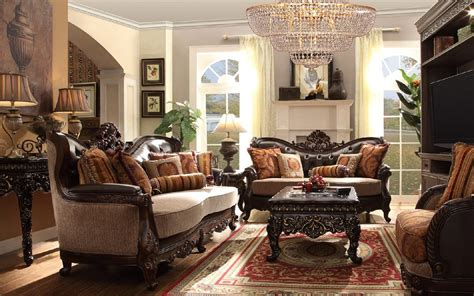 Hd 3630 Homey Design Upholstery Living Room Set Victorian