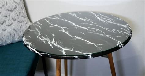 fake marble table tops diy faux marble table top hometalk