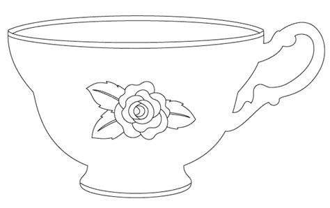 tea cup template the matching vintage teacup