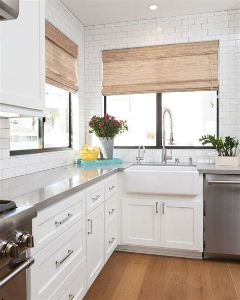 roman shades home inspiration backsplash kitchen white