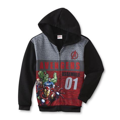 marvel avengers boys fleece hoodie jacket