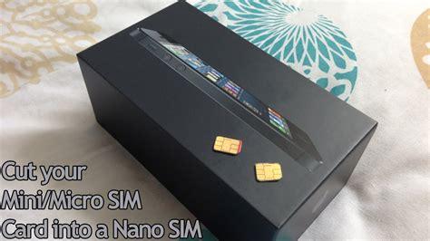 cut  micromini sim card   nano sim  iphone
