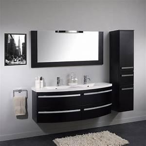 Meuble salle de bain design double vasque carrelage for Salle de bain design avec meuble salle de bain design promo