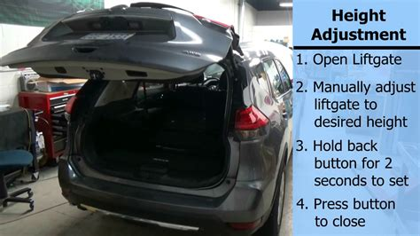 advent liftgate  nissan rogue operation  height