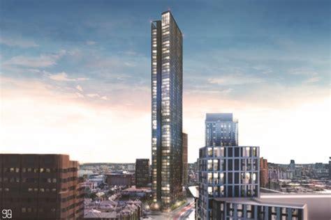 metre tower block proposed  birmingham