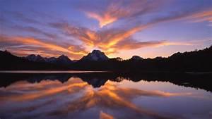 mountains, sunsets | Mountain Sunset Canvas Print ...