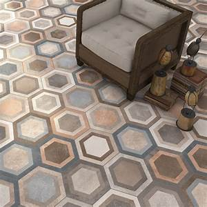 vintage hexagon tiles With tomette parquet
