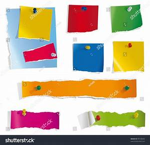 Torn Paper Notes Stock Vector 99146042 - Shutterstock