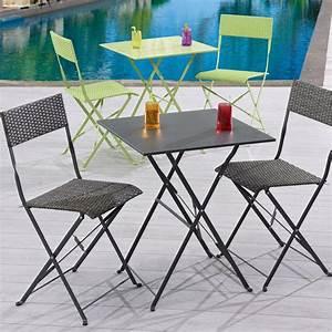 Table De Chevet Leroy Merlin : salon de jardin mezzo acier gris 1 table gueridon 2 chaises leroy merlin ~ Melissatoandfro.com Idées de Décoration
