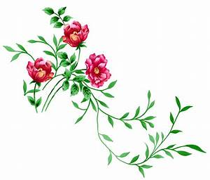 Red Floral Clipart (34+)