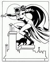 Catwoman Coloring Pages Cat Printable Batman Comic Google Dc Mujer Maravilla Adult Woman Colouring Comics Superhero Cats Tails Nine Hold sketch template