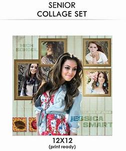 jessica senior collage photoshop template With senior photo collage templates