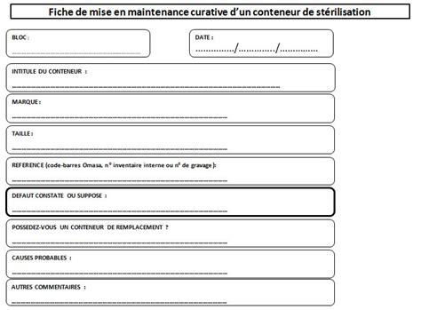 modele fiche d intervention maintenance mise en place et suivi d une procedure de maintenance du