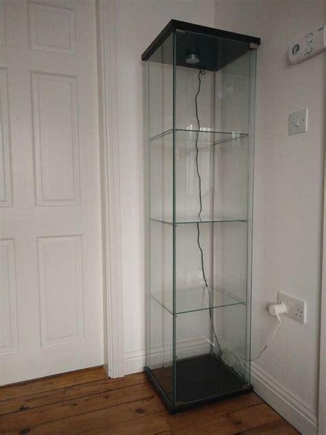 Ikea Detolf Glass Display Cabinet Light ikea detolf glass door display cabinet with light in