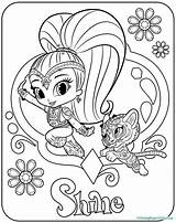 Shine Shimmer Coloring Pages sketch template