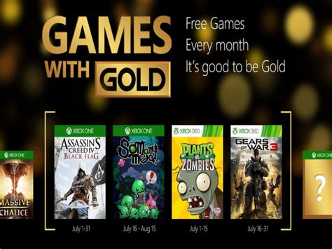 xbox july free games xbox live with gold for july 2015 announced xbox one gets aciv black flag and so many me