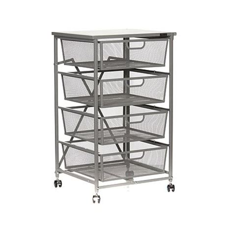 Origami Kitchen Cart by Origami 4 Drawer Kitchen Cart With Wood Shelf 8090500 Hsn