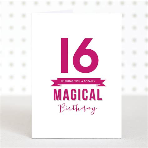 'magical 16' Birthday Card By Doodlelove