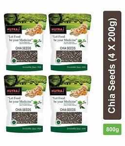 Nutraj Chia Seeds 200 G Pack Of 4  Buy Nutraj Chia Seeds 200 G Pack Of 4 At Best Prices In India