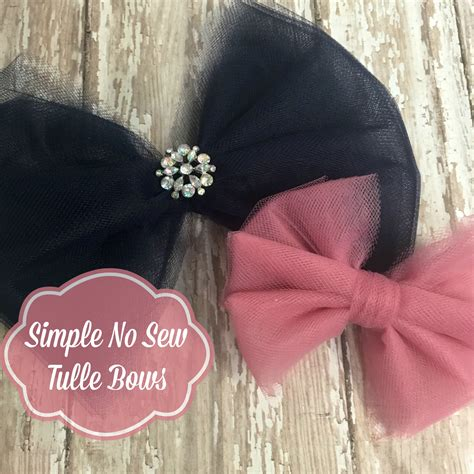 tulle hair bow     sew tulle bows   simple