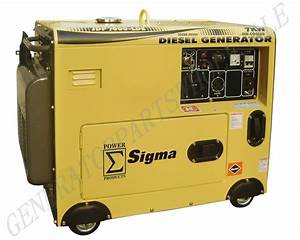 Sigma 7000 Watt Silent Diesel Generator Electric Start In ...