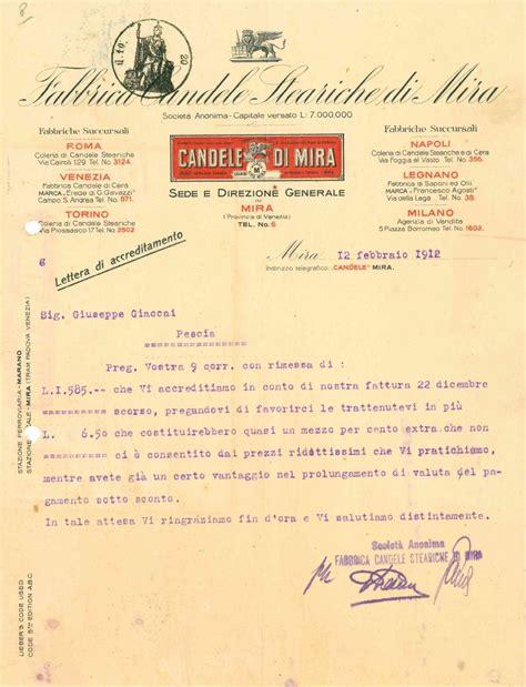 fabbrica di candele fabbrica di candele steariche mira lettera 1912