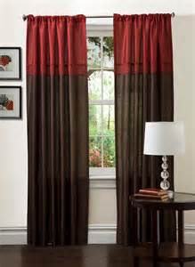 red curtains and drapes sears