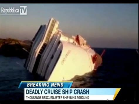 Cruise Ship Turned Over In Italy 3 Bodies Found 69 Missing! - YouTube