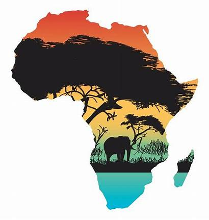 Africa Silhouette Map Continent Sticker Flag Jungle