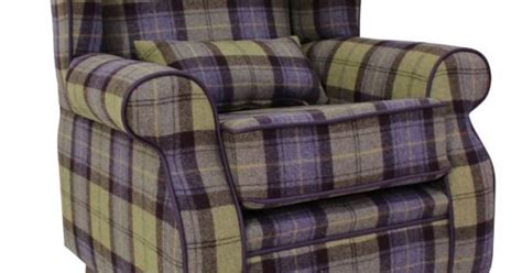 Arnold Wool Tweed Wing Chair Fireside High Back Armchair