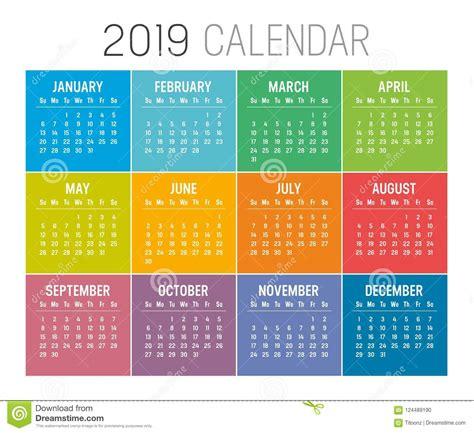 year calendar vector template stock vector illustration diary