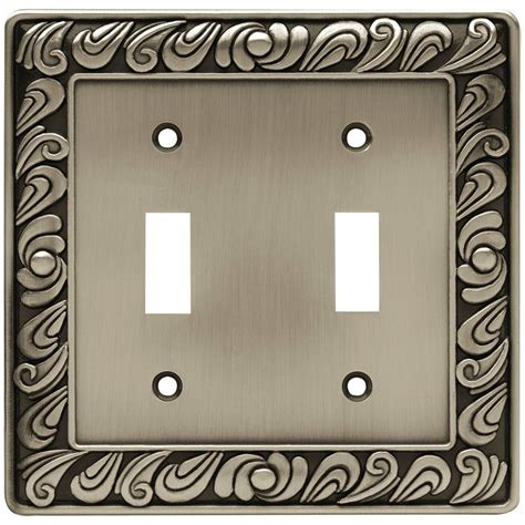 liberty paisley decorative double switch plate brushed