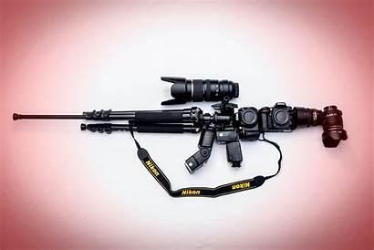 Camera Nikon Rifle Assault M16 Weapon Military