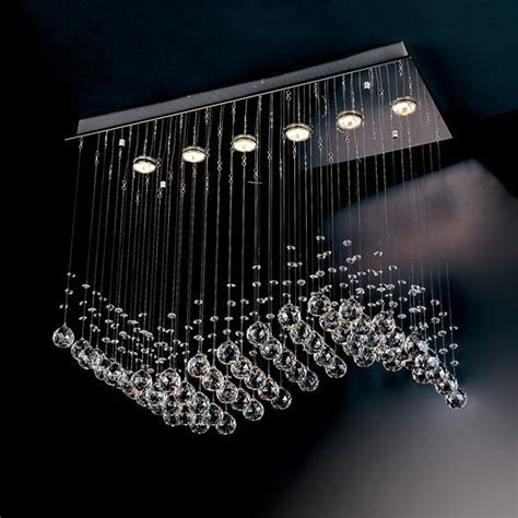 evrosvet contemporary  light crystal wave chandelier