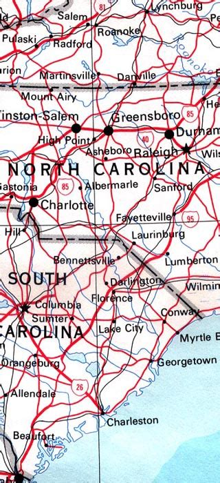 north carolina maps including outline  topographical