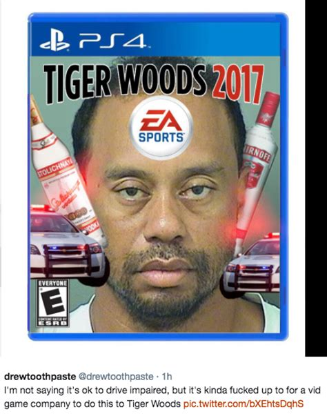Tiger Woods Meme Tiger Woods Got A Dui And His Mugshot Is Already Being
