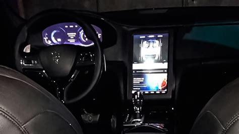 update maserati levante interior revealed  tablet