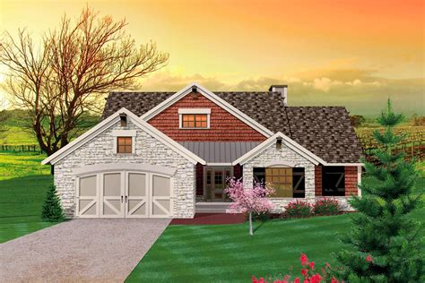 bedroom hill country rambler ah architectural designs house plans