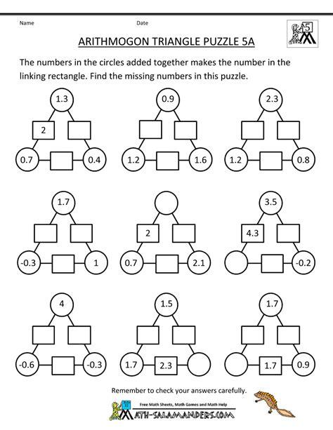printable math puzzles 5th grade math maths puzzles 3rd grade math worksheets math worksheets