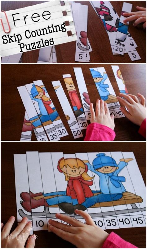 winter themed skip counting puzzles homeschool