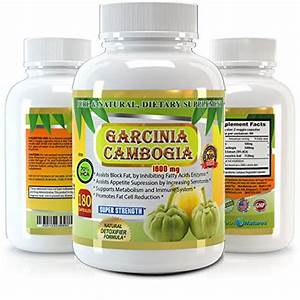 Garcinia Cambogia Pure Extract 1600mg - 180 Veggie Capsules - Premium Quality