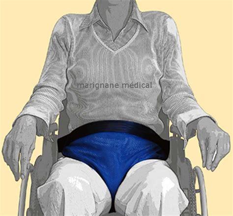 mini ceinture pelvienne de maintien pour fauteuil roulant sangle ventrale