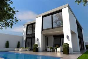 prix construction maison toit plat budget maisoncom With plan maison 2 niveaux 18 architecte maison individuelle contemporaine bourgoin