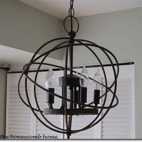 hometalk knockoff restoration hardware orb chandelier