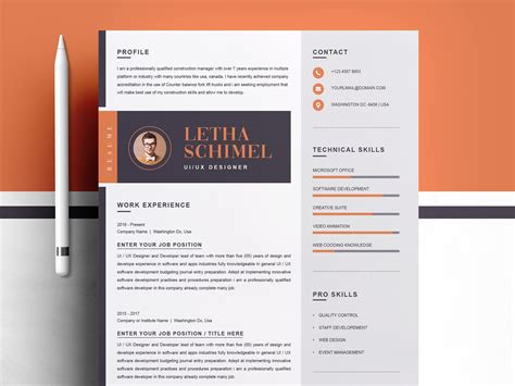 modern clean resume cv template  resume templates