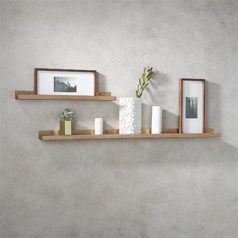 burnished copper metal floating shelf