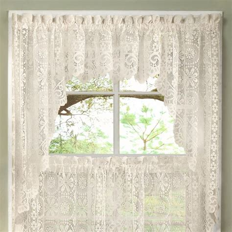 Kitchen Curtains And Valances by Luxurious World Style Lace Kitchen Curtains Tiers And