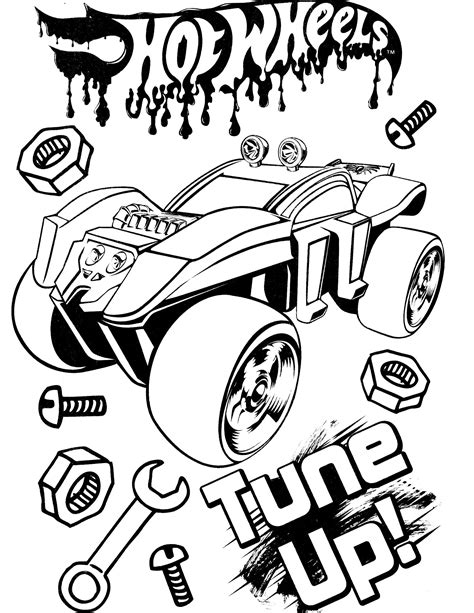 Free Printable Colouring Pages Hot Wheels