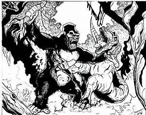 King Kong vs T-Rex by NickMockoviak on DeviantArt